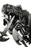 carrington-art crossover dinosaurs gwar hiveswap solo tagora_gorjek  rating:safe score:5 user:tagora