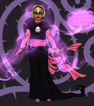 black_squiddle_dress fastpuck rose_lalonde solo thorns_of_oglogoth word_balloon rating:Safe score:2 user:sync