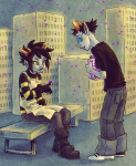 beekeeper_troll freckles hiveswap sitting sollux_captor syblatortue rating:Safe score:12 user:muteTyphoon