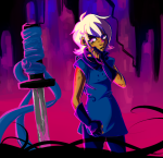 ancestors blood derse godtier head_out_of_frame her_imperious_condescension no_mask rogue rooish roxy_lalonde unbreakable_katana void_aspect rating:Safe score:11 user:saigner