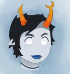 dream_ghost headshot llamatarianism solo twitter vriska's_punk_outfit vriska_serket rating:safe score:1 user:discordia389
