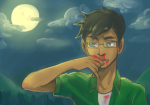 blood clouds jake_english nosebleed solo starter_outfit wingpie rating:Safe score:3 user:ploe