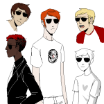 dave_strider four_aces_suited heart_shirt kathy pixel red_baseball_tee solo starter_outfit rating:Safe score:6 user:Pie