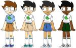 blue_slime_ghost_shirt ectobunnyboy freckles john_egbert multiple_personas solo starter_outfit rating:Safe score:5 user:Lettucefood