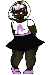 blush body_modification dosaidon rose_lalonde solo starter_outfit transparent rating:Safe score:4 user:saigner
