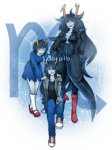 ancestors aranea_serket artificial_limb bya dancestors dream_ghost fluorite_octet marquise_spinneret_mindfang serkets vriska_serket web zodiac_symbol rating:Safe score:10 user:sync