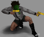 dirkpee gasmask golden_guns jake_english kneeling skull_suit solo rating:Safe score:3 user:Edfan32