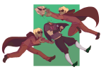 blood clockwork-incubus dave_strider decapitation dirk_strider godtier heart_aspect knight midair multiple_personas panel_redraw prince time_aspect rating:Questionable score:7 user:saigner