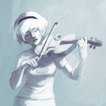 grayscale instrument rose_lalonde solo sukka  rating:safe score:11 user:sync