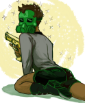 back_angle chouettechouette gasmask golden_guns jake_english skull_suit solo rating:Safe score:4 user:Pie