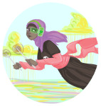 black_squiddle_dress clouds hubtopband land_of_light_and_rain rose_lalonde scrunch solo rating:Safe score:10 user:Pie