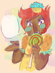 afyasco jane_crocker no_glasses solo spiral_sucker trickster_mode word_balloon rating:Safe score:1 user:Pie