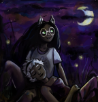 chamlis dogtier guns_and_roses head_on_lap homestuck_shipping_world_cup jade_harley redrom rose_lalonde shipping sleeping starter_outfit rating:Safe score:9 user:Pie
