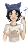 cat_hat gingerybiscuit humanized nepeta_leijon solo rating:Safe score:2 user:sync