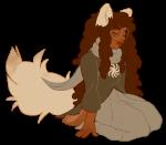 barefoot dogtail dogtier godtier jade_harley kneeling sheganny solo space_aspect transparent witch rating:Safe score:3 user:bjorkstuck