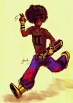 dancestors glowly humanized mituna_captor no_hat skateboard solo rating:Safe score:3 user:SirenDucks