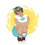 always-procrastinating flower_crown flowers jane_crocker sitting solo starter_outfit rating:Safe score:5 user:saigner