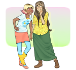 casual fashion holding_hands jade_harley robin roxy_lalonde shipping spring witches_brew rating:Safe score:3 user:Snacake6