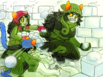 ancestors dancestors hat leijons lusus meulin_leijon nepeta_leijon pounce_de_leon salihombox the_disciple the_zodiac_getting_together winter rating:Safe score:22 user:Duck