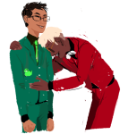 bromance crowry dave_strider hammertime john_egbert red_plush_puppet_tux wise_guy_slime_suit rating:Safe score:1 user:sync