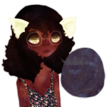 alternate_hair casual dogtier fashion headshot jade_harley solo stars transparent twilit word_balloon rating:Safe score:4 user:saigner