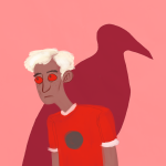 crows dave_strider freckles mostlyhazel no_glasses red_record_tee solo starter_outfit rating:Safe score:1 user:Pie