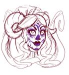aradia_megido facepaint headshot limited_palette madmaddie sketch solo