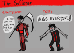 ancestors givememountaindew limited_palette non_canon_design righteous_leggings solo the_sufferer the_truth word_balloon
