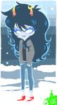 dream_ghost no_glasses pixel shaddzz solo vriska_serket winter
