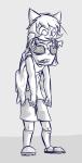 carrying equius_zahhak grayscale meowrails nepeta_leijon no_hat orznipotent