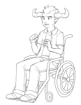 grayscale lineart solo source_needed sourcing_attempted tavros_nitram wheelchair
