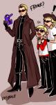 ! blush bro crossover dave_strider red_baseball_tee resident_evil smuppets