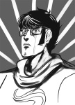 crossover crying fist_of_the_north_star godtier grayscale headshot heir john_egbert solo source_needed sourcing_attempted