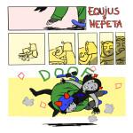 calvin_and_hobbes comic diamond equius_zahhak gaelanhammond meowrails nepeta_leijon no_glasses palerom parody shipping