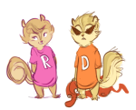 alvin_and_the_chipmunks animalstuck crossover dirk_strider roxy_lalonde smuppets tiger