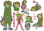 action_claws blood blush clothingswap decapitation dream_ghost fraymotif freckles gamzee_makara glassesswap godtier heart heart_aspect kneeling nepeta_leijon no_hat non_canon_design rogue sadstuck