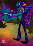 chalnsaw crossover empiricist's_wand eridan_ampora green_moon hat pink_moon solo superjail!
