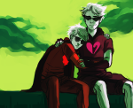 casentine dave_strider dirk_strider godtier heart_aspect hug knight land_of_tombs_and_krypton panel_redraw prince time_aspect