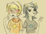 chalk glasses_added glassesswap godtier o-m-zee rose_lalonde seeing_terezi seer terezi_pyrope