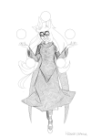 dogtier godtier grayscale hanna-cepeda jade_harley lineart planets solo wip witch
