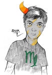 andrew_hussie cosplay mspandrew pencil sketch solo