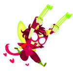 action_claws chibi deebree godtier heart heart_aspect midair nepeta_leijon rogue solo