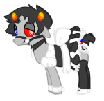 crossdressing crossover karkat_vantas milkwhiterabbit mind_control my_little_pony ponified solo undergarments