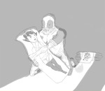 artist_needed blush crossover deadpool grayscale kanaya_maryam karkat_vantas marvel source_needed sourcing_attempted