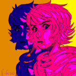 godtier headshot limited_palette no_mask rogue roxy_lalonde solo turtle-demon void_aspect
