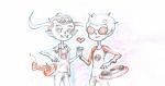 dave_strider heart holding_hands red_baseball_tee redrom s'mores shipping sick_fires skeksil tavros_nitram timetables