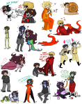 ? animalstuck art_dump beta_kids beverage biting blackrom blind_vote blush bondage book carrying chubstuck clown_hunting consorts cosplay crocodiles dave_strider equius_zahhak faygo feferi_peixes flowers food foxman_harley gamzee_makara ghostbusters godtier heart jade_harley john_egbert kanaya_maryam karkat_vantas knight licking light_aspect merfolk milk monocle nepeta_leijon no_glasses no_hat pajamas redrom rose_lalonde royal_pain seer shipping sollux_captor spade squidbiscuit swimsuit tavros_nitram terezi_pyrope time_aspect wayward_vagabond word_balloon wv