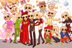 animal_ears brigriv crossdressing dave_strider dead_shuffle_dress felt_duds four_aces_suited godtier knight multiple_personas ohgodwhat solo undergarments