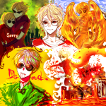 aspect_symbol blood dave_strider davesprite dirk_strider heart_aspect jyaba knight land_of_tombs_and_krypton multiple_personas prince sprite text time_aspect