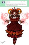 aradia_megido facepaint fashion flowers kanayas_beauty_salon mexistuck request rlyrlybigman skulls solo